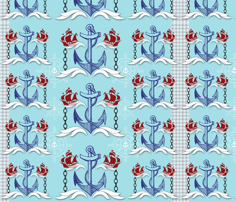 Sea Farer fabric by mollycoddle on Spoonflower - custom fabric
