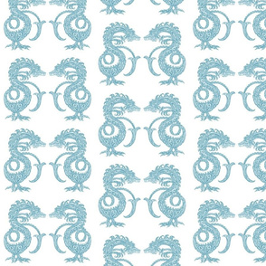 Dragons at Dawn - Soft Teal