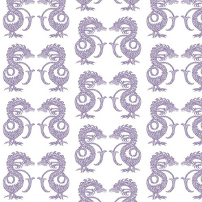 Dragons at Dawn - Soft Purple
