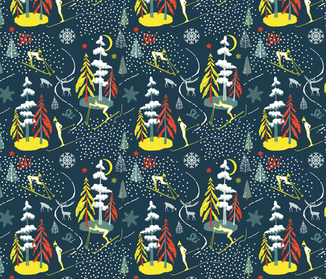 ski_ fabric by uramarinka on Spoonflower - custom fabric