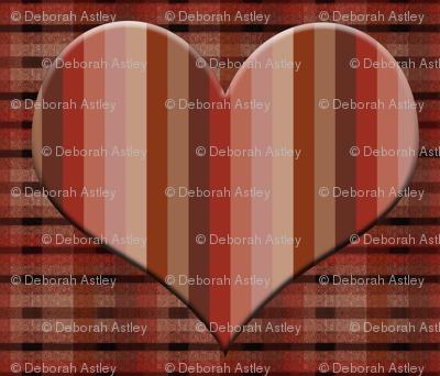 Striped Heart on Plaid