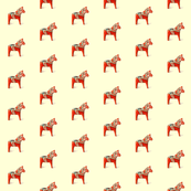 Dala Horse Golden Facing Right