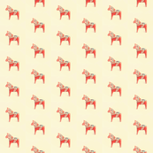 Dala Horse Peach Mist Facing Left