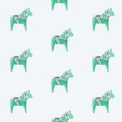 Dala Horse Mint Green