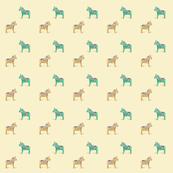 Dala Horse Yellow Aqua