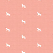 White Unicorn on Blush Peach