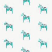 Dala Horse Aqua