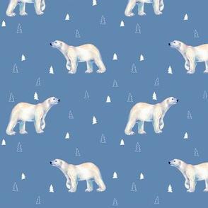 Polar Bear Tundra Blue
