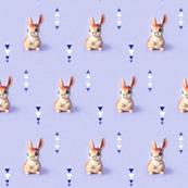 Retro Bunny in Violet
