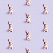 Retro Bunny in Sweet Purple