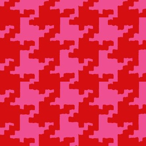 red_and_pink houndstooth for Christmas