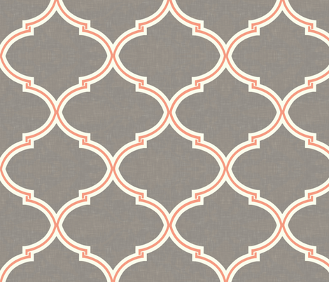 Kate Trellis in Gray and Salmon