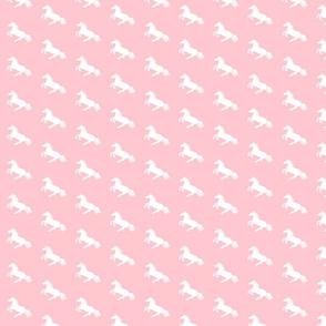 White Pony Pink Diagonal