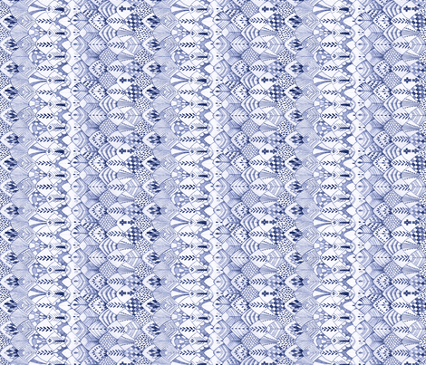 Owl Feathers Dark Blue, Sideways fabric by thistleandfox on Spoonflower - custom fabric