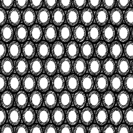 film noir egg and dart  fabric by keweenawchris on Spoonflower - custom fabric