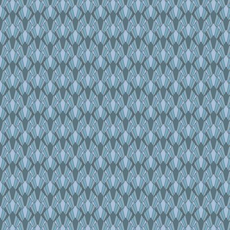 Art deco diamond fans, gray-blues by Su_G