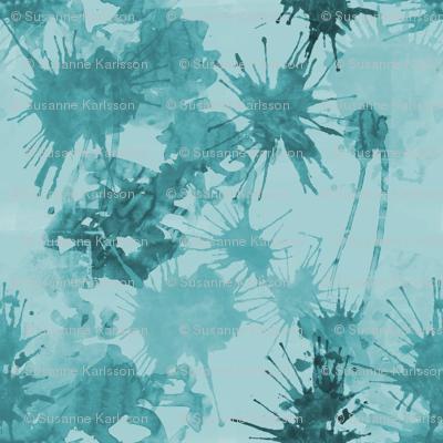 cyan water color