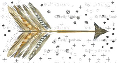 Watercolor Arrow Neutral Horizontal