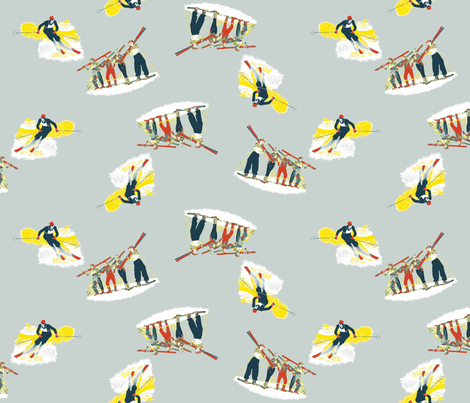 When_Mom___Dad_Skied-Aquadro fabric by candycorngirl on Spoonflower - custom fabric