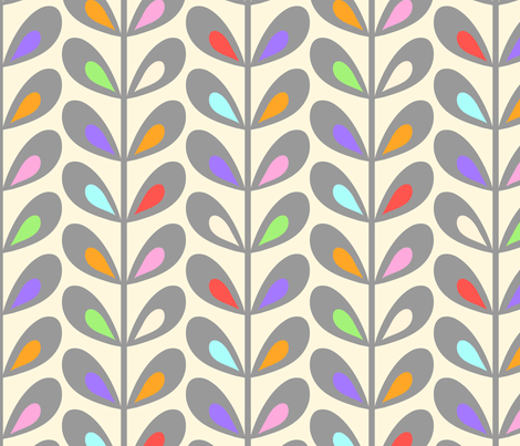 Creamsicle leaves  fabric by vo_aka_virginiao on Spoonflower - custom fabric