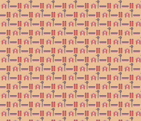 Old Cupric Farm fabric by siya on Spoonflower - custom fabric