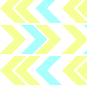 Wacky Chevron Yellow Blue