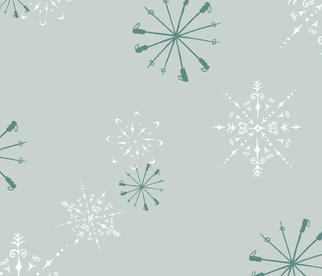 sarahcrystal_ski fabric by sarahcrystal on Spoonflower - custom fabric