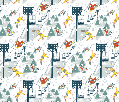 retroskirepeat fabric by jstemps on Spoonflower - custom fabric