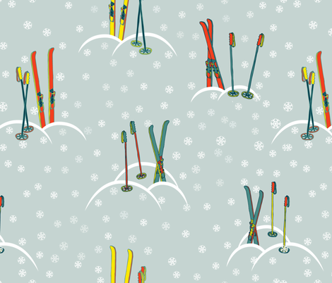 Ski Pattern fabric by gleolite on Spoonflower - custom fabric
