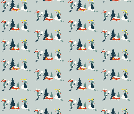 Racing_back_to_the_chalet fabric by teagirl on Spoonflower - custom fabric