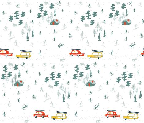 ski retro fabric by pattyryboltdesigns on Spoonflower - custom fabric
