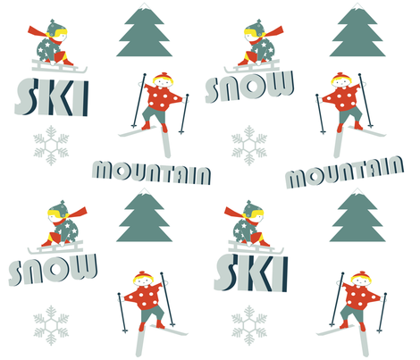 Fun_Ski fabric by yasminah_combary on Spoonflower - custom fabric