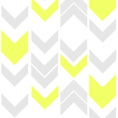 Vertical Chevron Lemon Gray