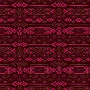 Maroon red aztec print