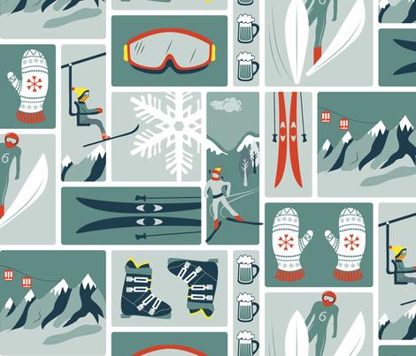 Nordic winter fabric by ebygomm on Spoonflower - custom fabric