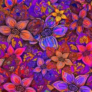 FLOWERS MISH MASH XL SUNSET