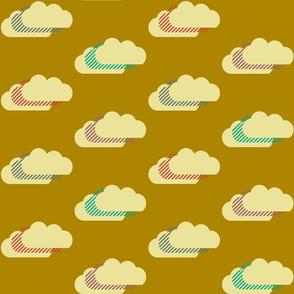 Clouds - gold