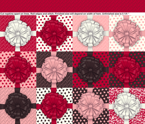 Valentine cocktail napkins fabric by victorialasher on Spoonflower - custom fabric