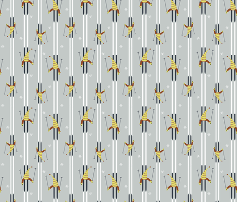 On the Slopes fabric by alexaug on Spoonflower - custom fabric