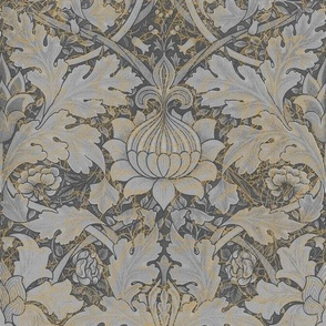 William Morris ~ Growing Damask ~ Grey Garden