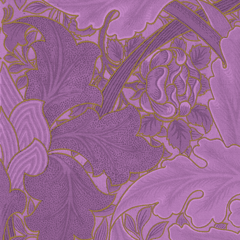 William Morris ~ Growing Damask ~ Hothouse Flower and Gilt fabric by peacoquettedesigns on Spoonflower - custom fabric