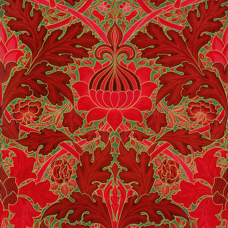 William Morris ~ Growing Damask ~ Christmas in London fabric by peacoquettedesigns on Spoonflower - custom fabric