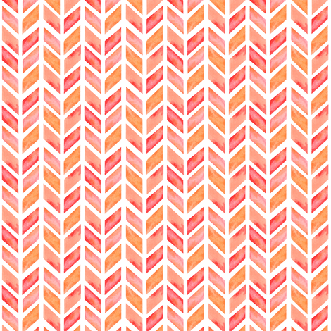 Watercolor Herringbone in Solid Pink MINI fabric by emilysanford on Spoonflower - custom fabric