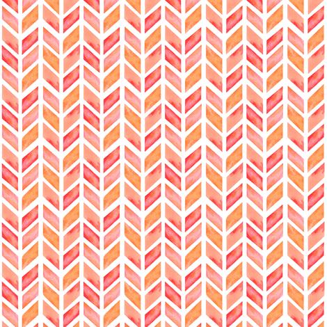 Watercolor Herringbone in Solid Pink MINI fabric by emilysanford on Spoonflower - custom fabric