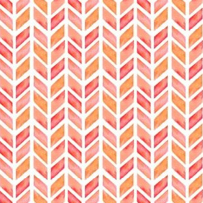 Watercolor Herringbone in Solid Pink MINI