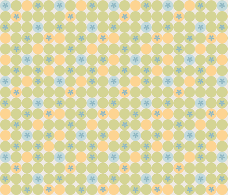 Flower Green Dots