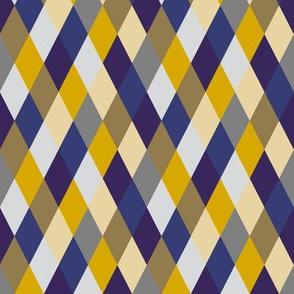 Purple and Gold Diamonds