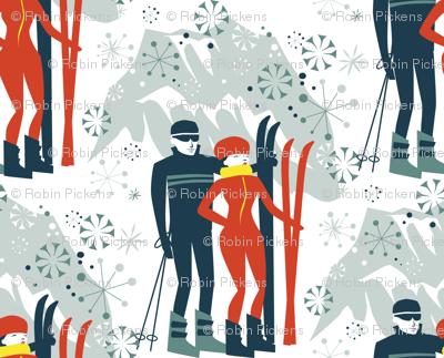 Svetlana Struts her Scarlet Skiis