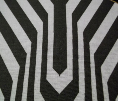 Garden Carpet Chevron Black