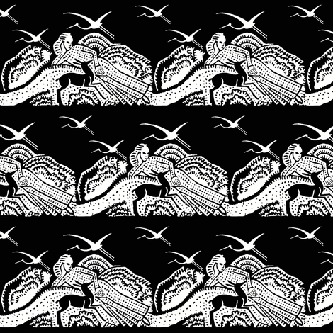 repose toile black fabric by keweenawchris on Spoonflower - custom fabric